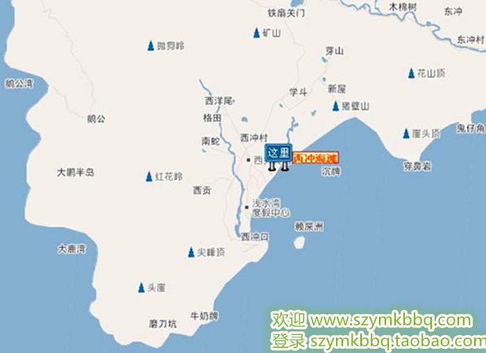 深圳小梅沙海洋公园地图